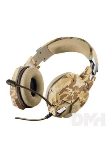 Trust GXT 322D Carus sivatag álcafestéses gamer fejhallgató headset