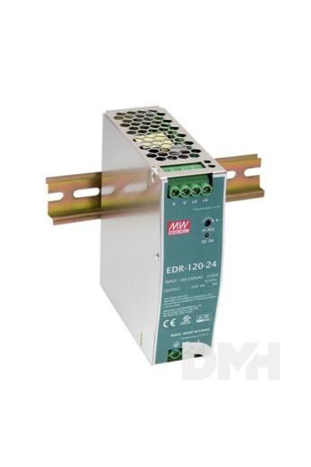 MEAN WELL EDR-120-24 24V 5A 120W DIN sínre szerelhető tápegység