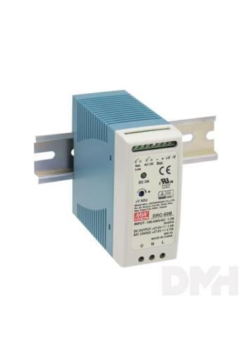 MEAN WELL DRC-60B 27,6VDC 1,4A ipari DIN sínre szerelhető szünetmentes tápegység