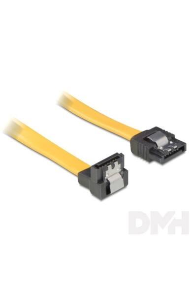 Delock 82479 SATA sárga lefele / egyenes csatl. (fémlappal) 50 cm összekötő kábel