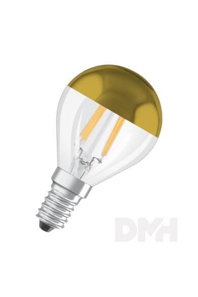 Osram Star üveg búra/4W/420lm/2700K/E14 arany tetőtükrös LED kisgömb izzó
