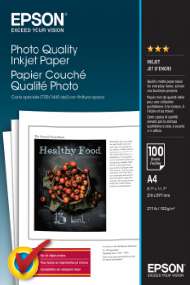 Epson Photo Quality Ink Jet papír| 105g | A4 | 100 lap
