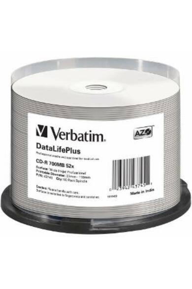 Verbatim CD-R [ spindle 50   700MB   52x   white wide printable ]