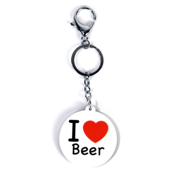 Kulcstartó I love beer