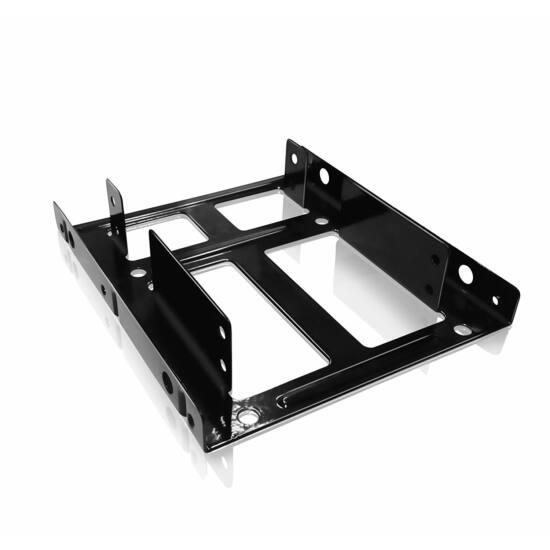IcyBox Internal Mounting frame 3,5 ' for 2x 2.5', Black SSD beépítő keret