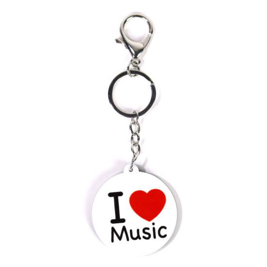 Kulcstartó I love music