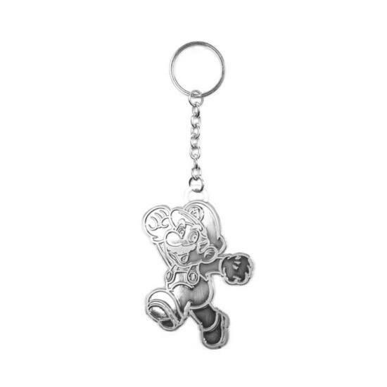 Nintendo Silver Mario Kulcstartó