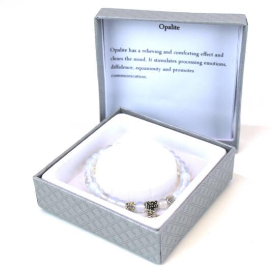 Karkötő fehér opalit