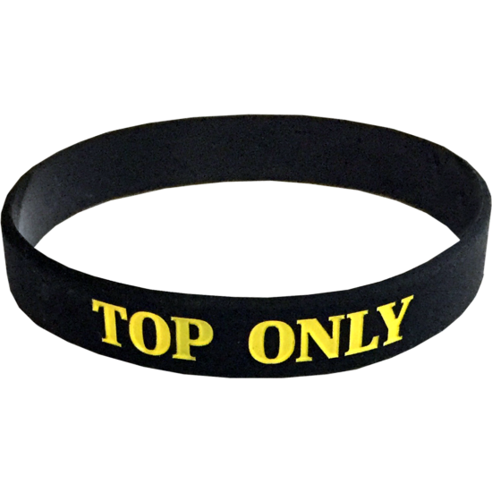 TOP Only szilikon karkötő