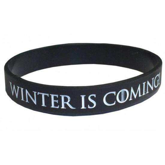 Winter is Coming szilikon karkötő
